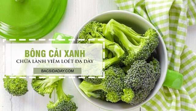 Chữa lành viêm loét dạ dày bằng bông cải xanh