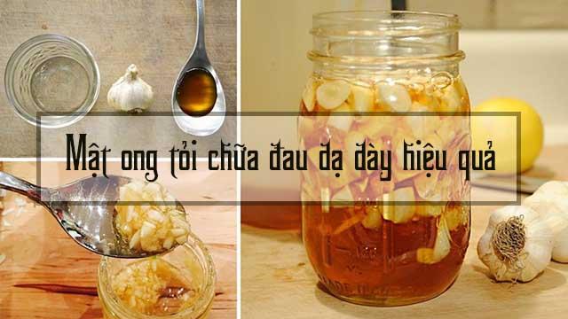 chữa đau dạ dày bằng tỏi mật ong