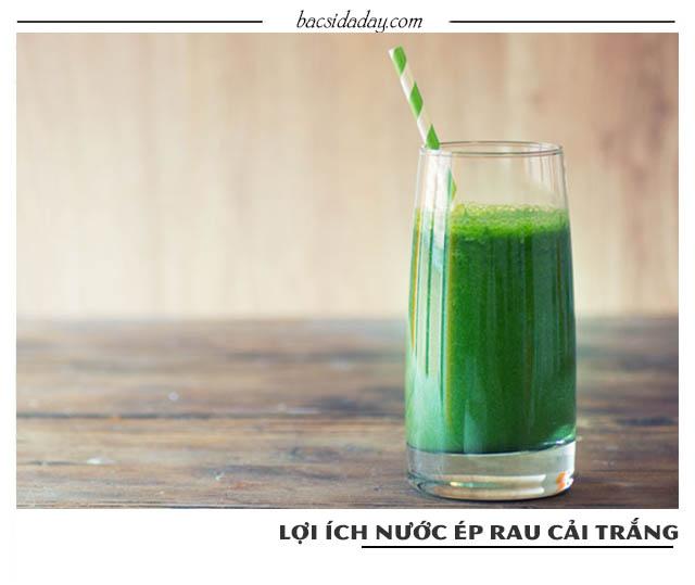 uống nước ép rau cải trắng chữa đau dạ dày