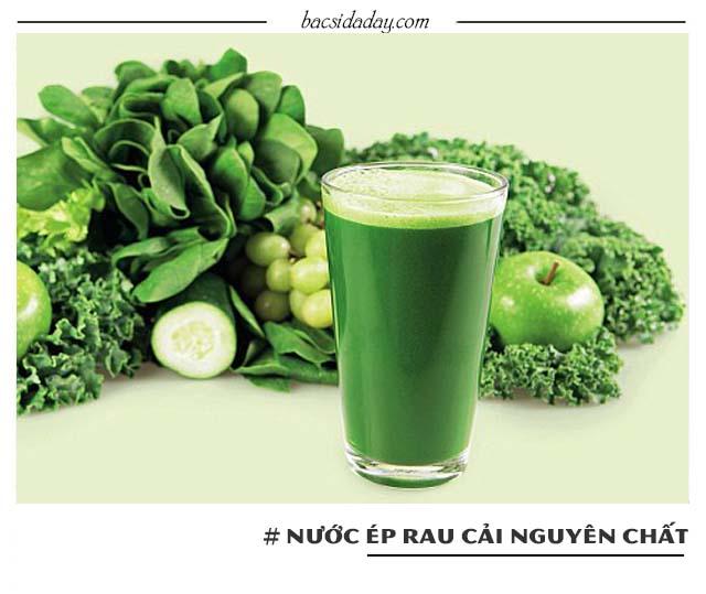 cách chữa đau dạ dày bằng nước ép rau cải trắng