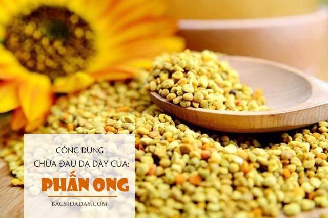 công dụng chữa bệnh đau dạ dày của phấn ong