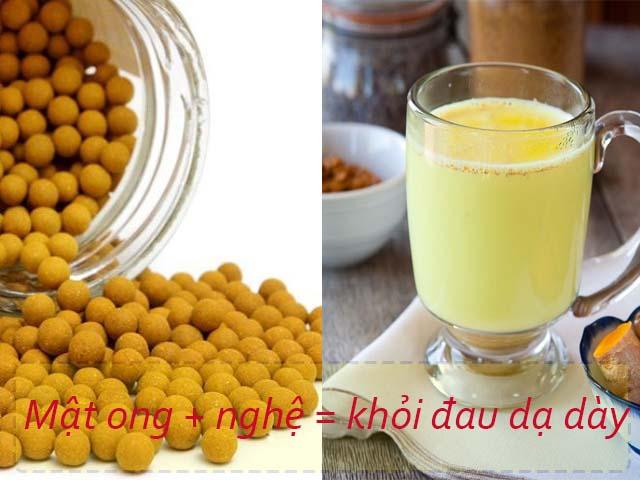 chữa đau dạ dày bằng mật ong và nghệ