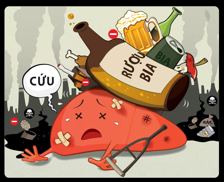 Bị viêm loét dạ dày tá tràng nên kiêng rượu bia