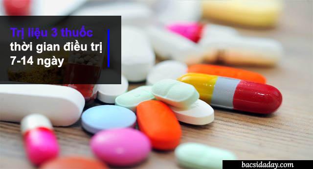 Phác đồ điều trị vi khuẩn Hp với 3 thuốc