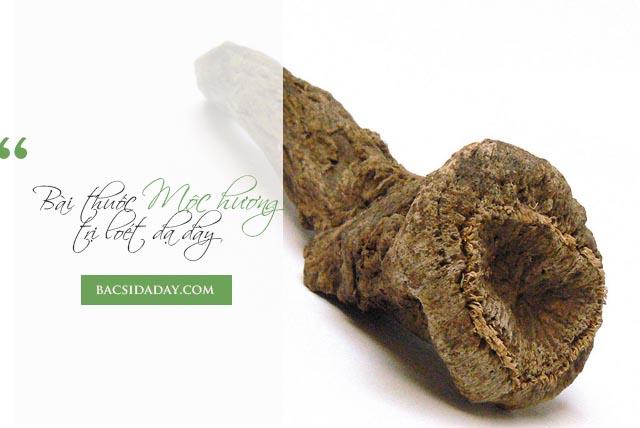 trị viêm loét dạ dày bằng mộc hương