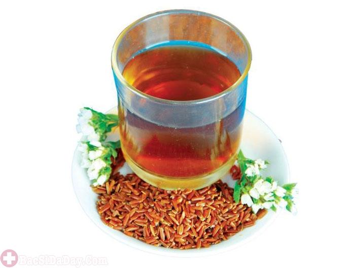 Trà gạo lứt trị đau dạ dày