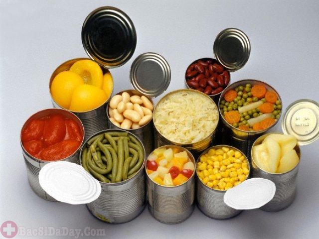 Thực phẩm đóng hộp người bị bệnh dạ dày nên tránh nếu không muốn bệnh năng hơn