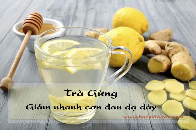 chữa đau dạ dày bằng trà gừng
