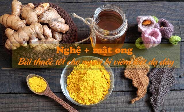 chữa viêm loét dạ dày bằng nghệ và mật ong