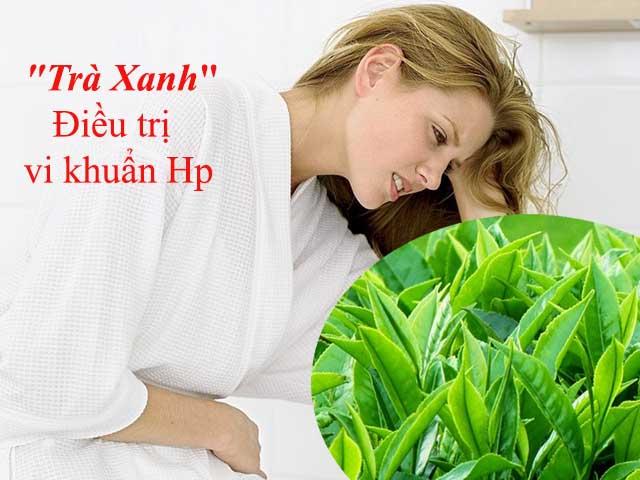Điều trị vị khuẩn Hp bằng trà xanh