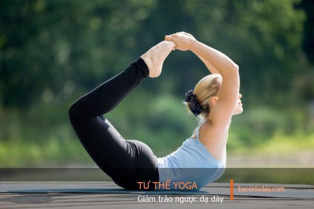 tập yoga trị trào ngược dạ dày