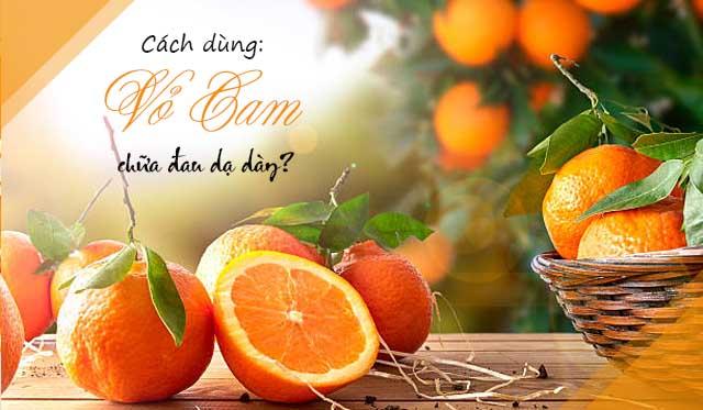 cách chữa đau dạ dày bằng vỏ cam