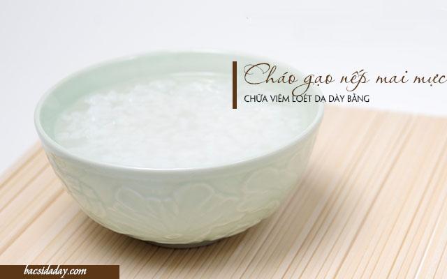 gạo nếp chữa viêm loét dạ dày
