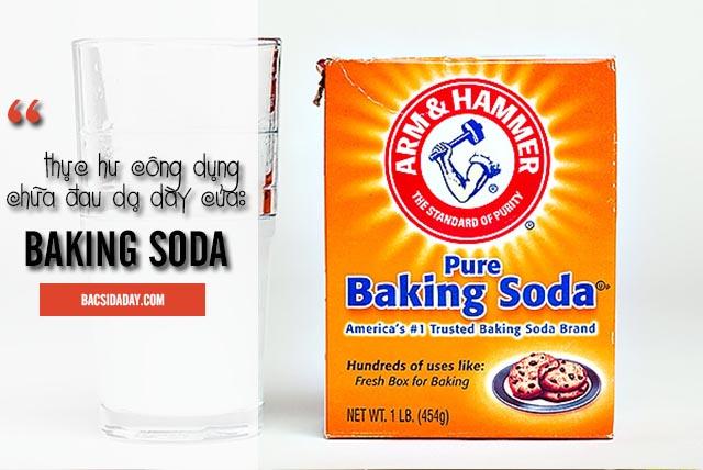 baking soda chữa đau dạ dày