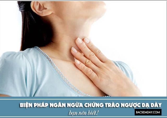 cách phòng tránh bệnh trào ngược dạ dày